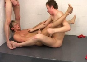 Bareback Wrestling Threesome